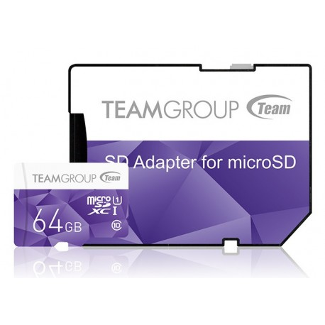 Karta pamięci TEAM GROUP 64GB Micro SDXC UHS-1 PURPLE + AdapterSD