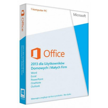 OFFICE 2013 Home and Business 32-bit/x64 Polish Eurozone Medialess