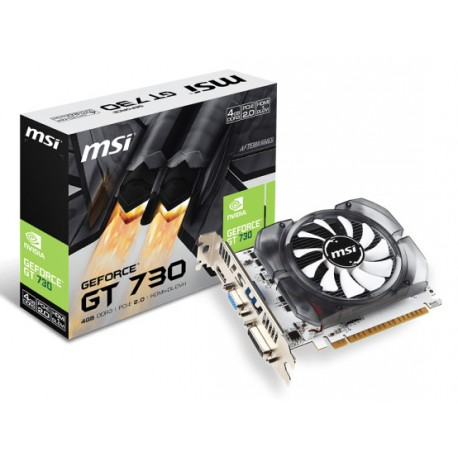 MSI GeForce GT 730 | 4GB | 128 bit | DDR3 | DVI | HDMI | D-SUB