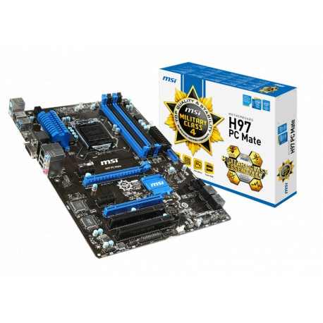 MSI H97 PC Mate | H97 | LGA 1150 | DDR3 | USB 3.0 | ATX