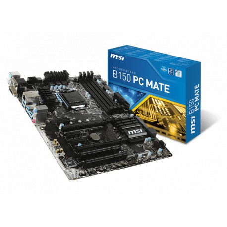 MSI B150 PC MATE | B150 | LGA 1151 | DDR4 | USB 3.1 | ATX