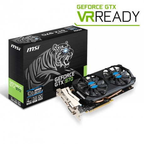 MSI GeForce GTX 970 OC | 4GB | GDDR5 | 256 bit | 2xDVI/HDMI/DP