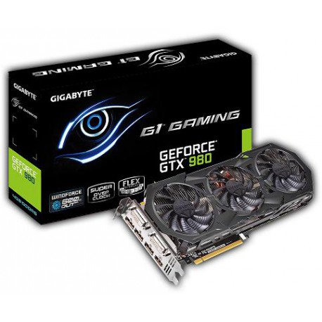 Gigabyte GeForce CUDA GTX980 4GB DDR5 PCI-E 256BIT 2DVI/HDMI/3DP BOX