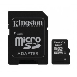 KARTA PAMIĘCI microSDHC KINGSTON Class 4 8GB + Adapter SD