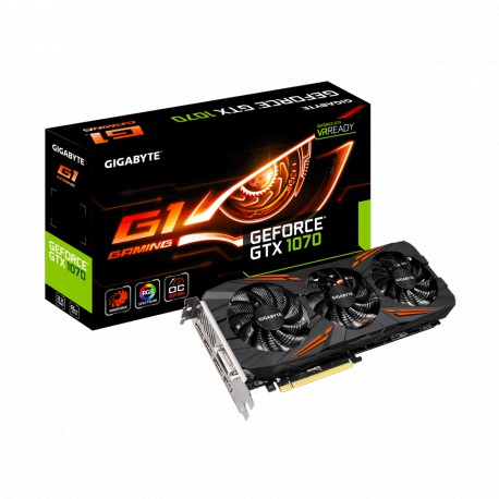 GIGABYTE GeForce GTX 1070 G1 Gaming | 8GB | GDDR5 | 256 bit | HDMI/Dual-Link DVI-D/3 x DisplayPort