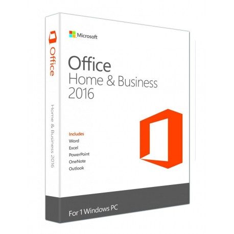 MICROSOFT OFFICE 2016 Home & Business (bez nośnika + licencja)