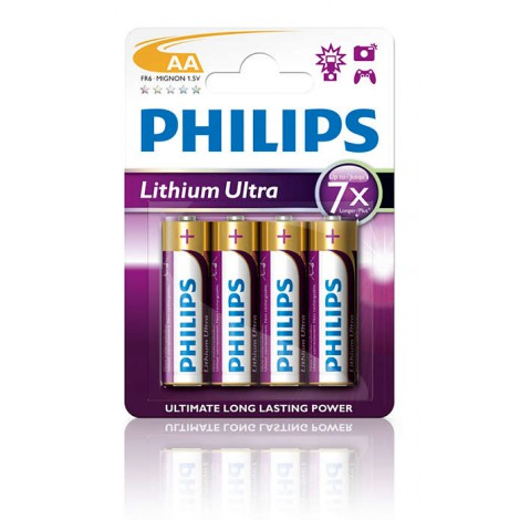 BATERIA alkaliczna PHILIPS Lithium Ultra LR6, typ AA (4 szt.)