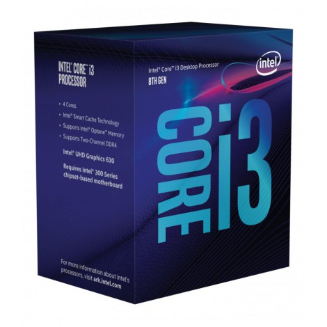 PROCESOR INTEL CORE i3-8100 / 3.6 GHz / 1151 / 6M Cache