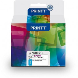 Tusz PRINTT do EPSON NAE1302C (T1302) cyan 16 ml