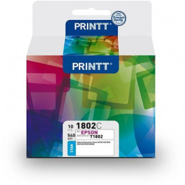 Tusz PRINTT do EPSON NAE1802C (T1802) cyan 10 ml