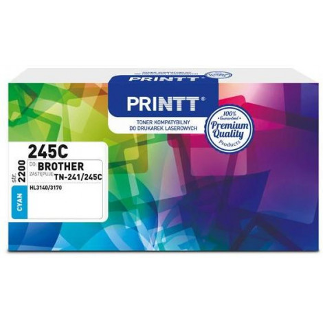Toner PRINTT do BROTHER NTB245C (TN-241/245C) cyan 2200 str.