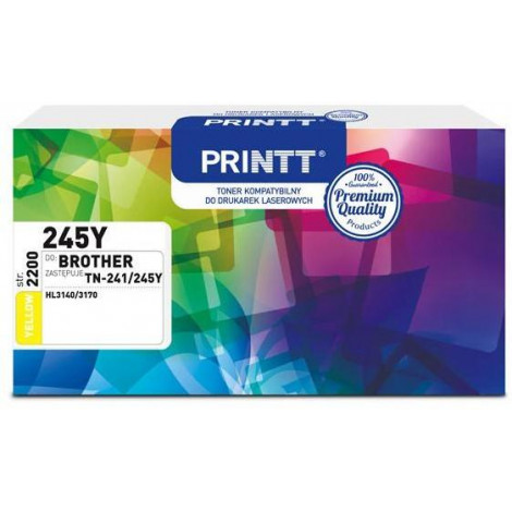 Toner PRINTT do BROTHER NTB245Y (TN-241/245Y) yellow 2200 str.