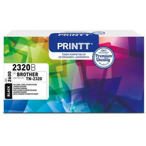 Toner PRINTT do BROTHER NTB2320B (TN-2320) czarny 2600 str.