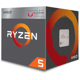 Procesor AMD Ryzen 5 2400G (4M Cache, 3.6 GHz, up to 3.9 GHz)