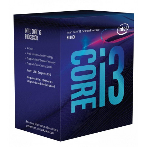 Procesor Intel Core i3-8100 (6 MB Cache, 3.60 GHz) TRAY