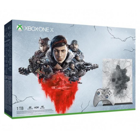 Konsola Xbox One X 1TB wersja limitowana z grami Gears 5 Ultimate, Gears of War Ultimate, Gears of War 2,3,4