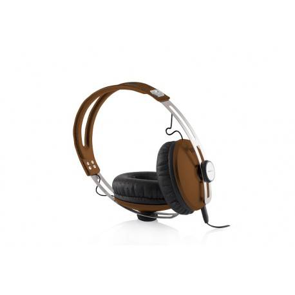 SŁUCHAWKI nauszne MC-450-ONE z mikrofonem, brązowe / MODECOM