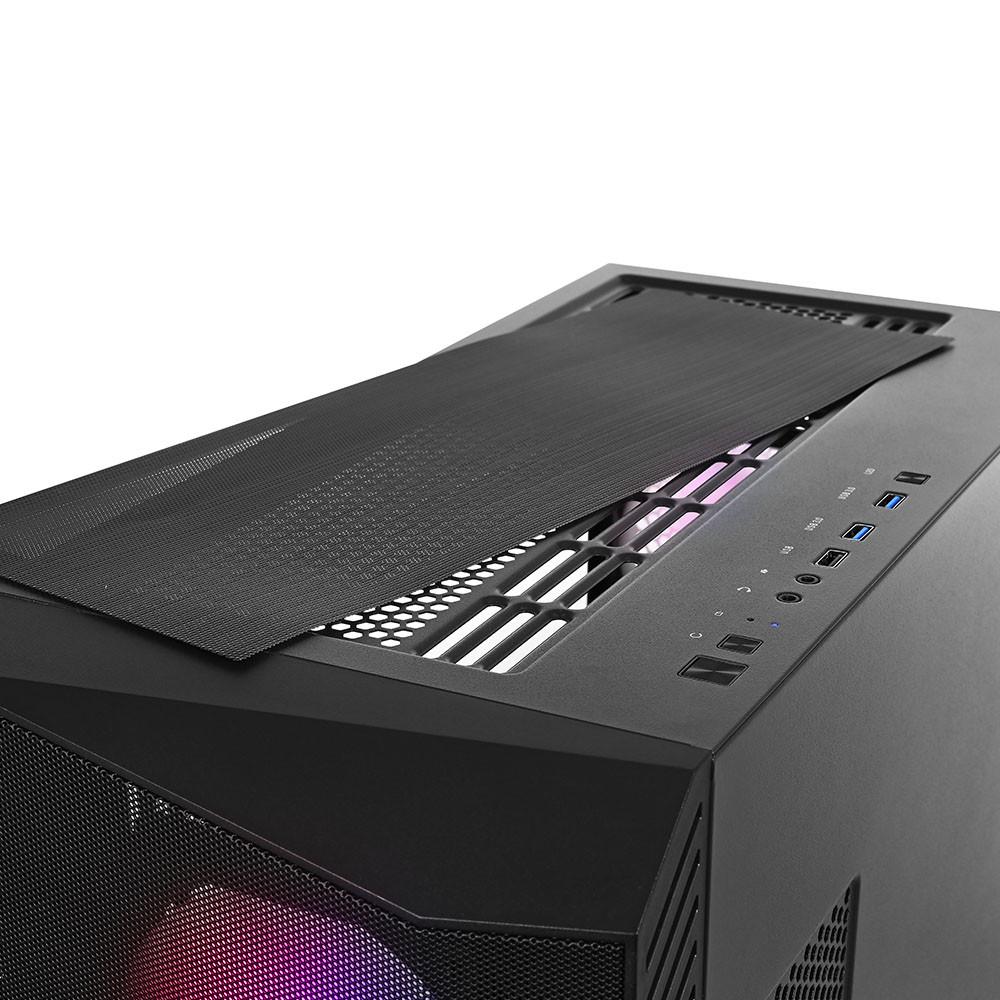 SŁUCHAWKI nauszne MC-831 RAGE gamingowe, z mikrofonem, czarno-niebieskie / MODECOM