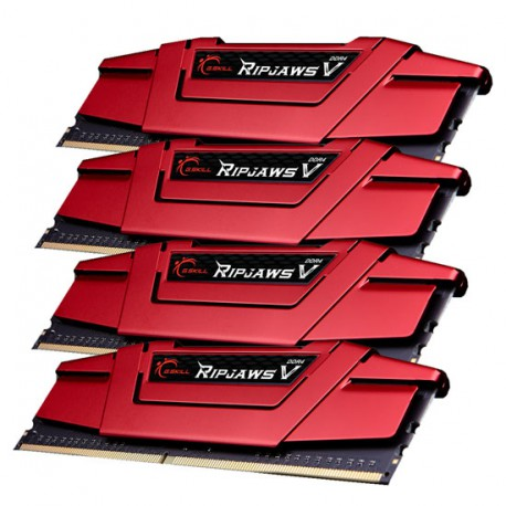 Pamięć G.SKILL Ripjaws V | 32GB (4x8GB) | DDR4 | 3000 MHz | Red