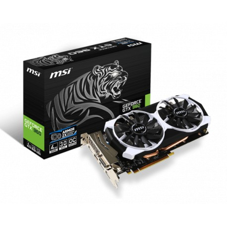 MSI GeForce GTX 960 OC | 4GB | GDDR5 | 128 bit | DVI/HDMI/3xDP