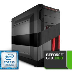 Komputer NTT Game Intel Core i3 8-gen + GTX 1060
