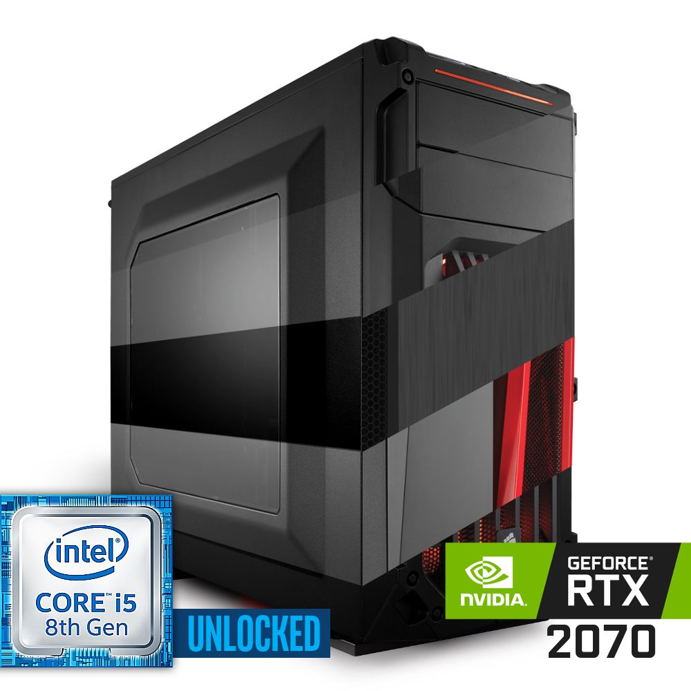 Komputer NTT Game R Intel Core i5K 8-gen + RTX 2070