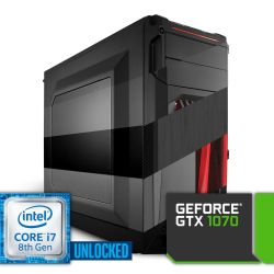 Komputer NTT Game Intel Core i7K 8-gen + GTX 1070
