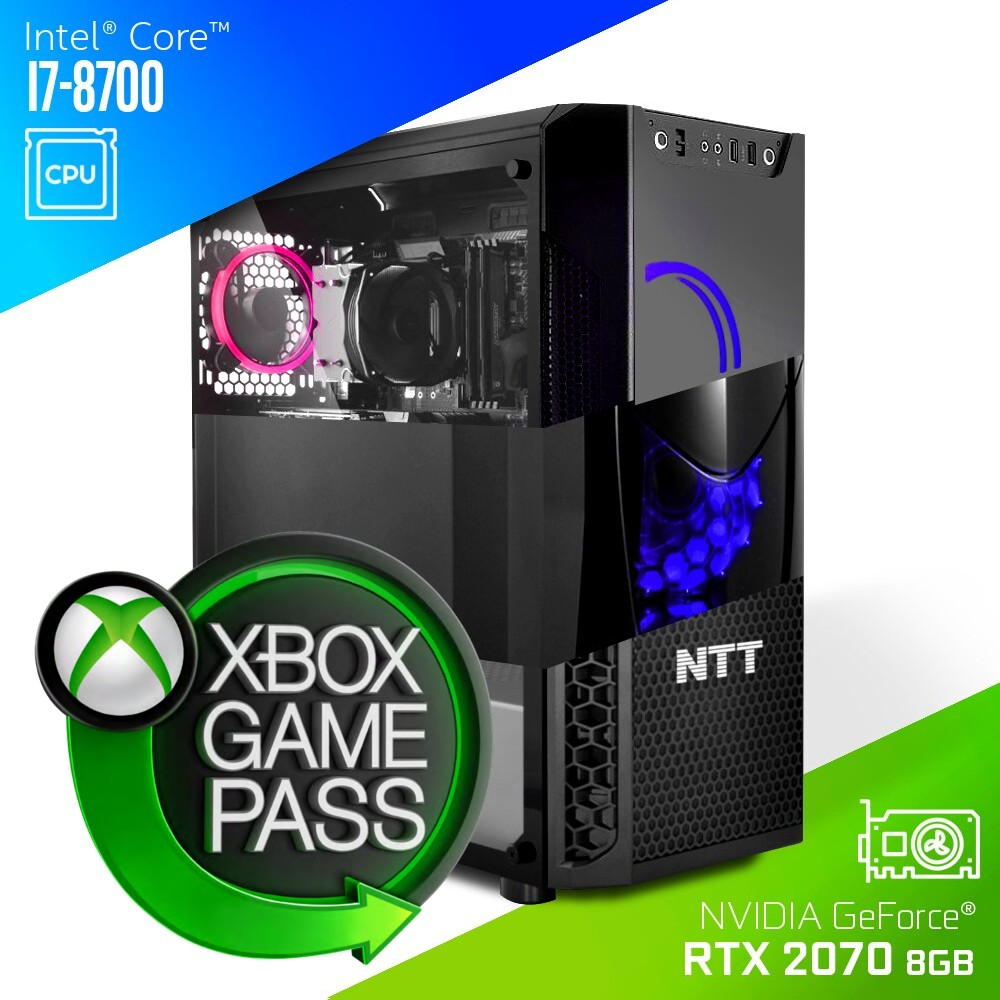 Komputer do gier NTT Game Intel Core i7-8700 + RTX 2070 8GB