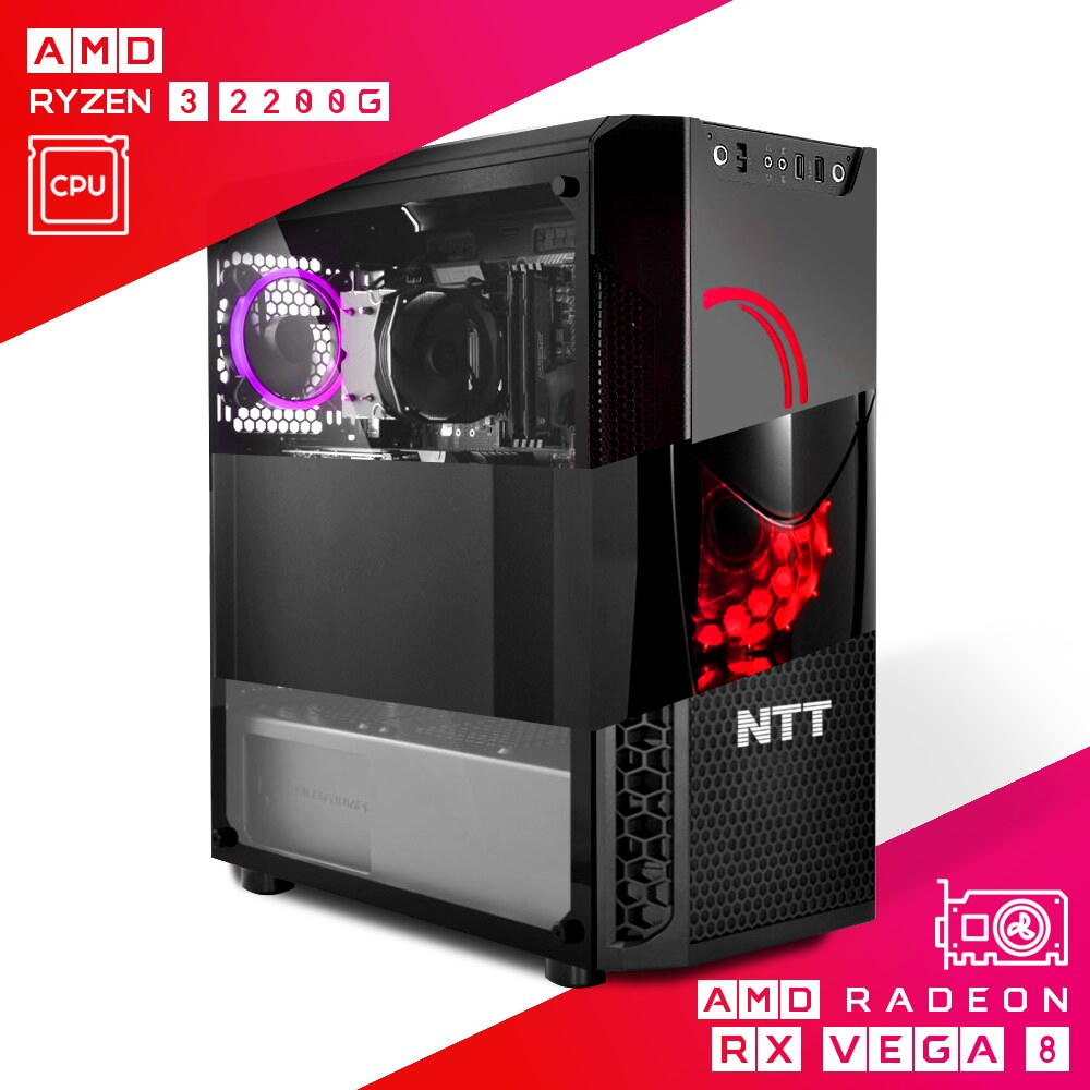 Komputer do gier NTT Game AMD Ryzen 3 2200G + Radeon Vega 8
