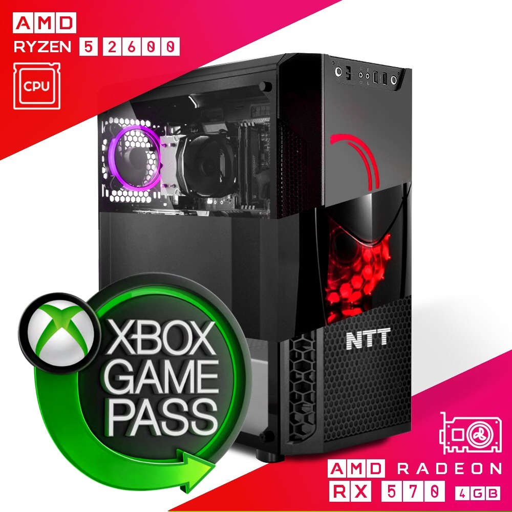 Komputer do gier NTT Game AMD Ryzen 5 2600 + RX 570 4GB