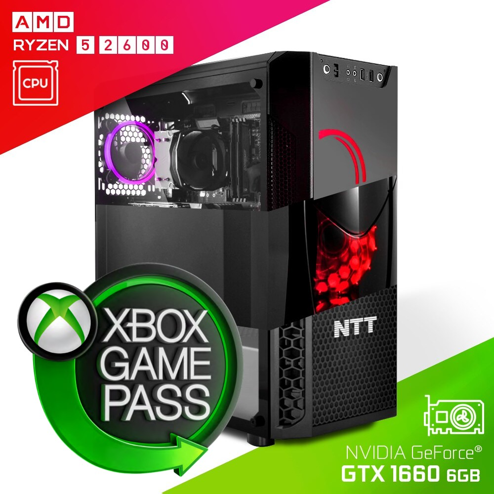 Komputer do gier NTT Game AMD Ryzen 5 2600 + GTX 1660 6GB